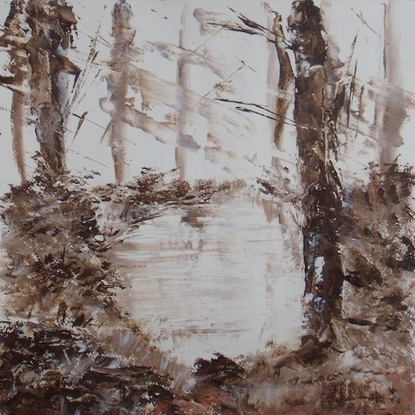 """Pond Reflections"" original fine art by Nelvia  McGrath"