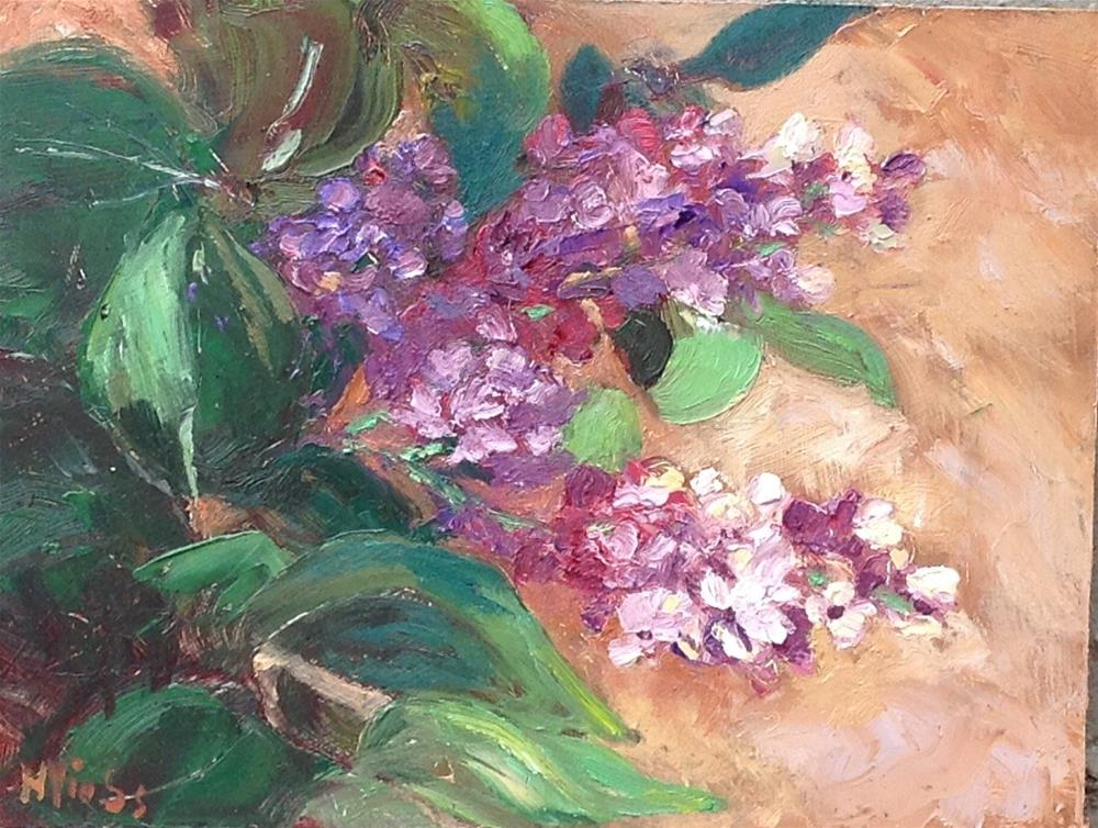 """My Own Lilacs"" original fine art by Helen Viebrock Hamel"