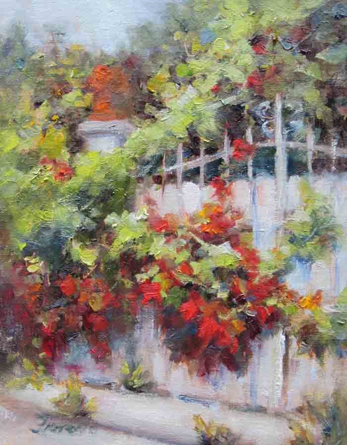 """Autumn Surprise"" original fine art by Pat Fiorello"