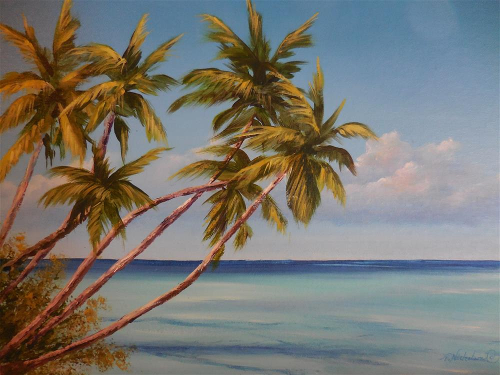"""Tropical Breeze"" original fine art by Terri Nicholson"