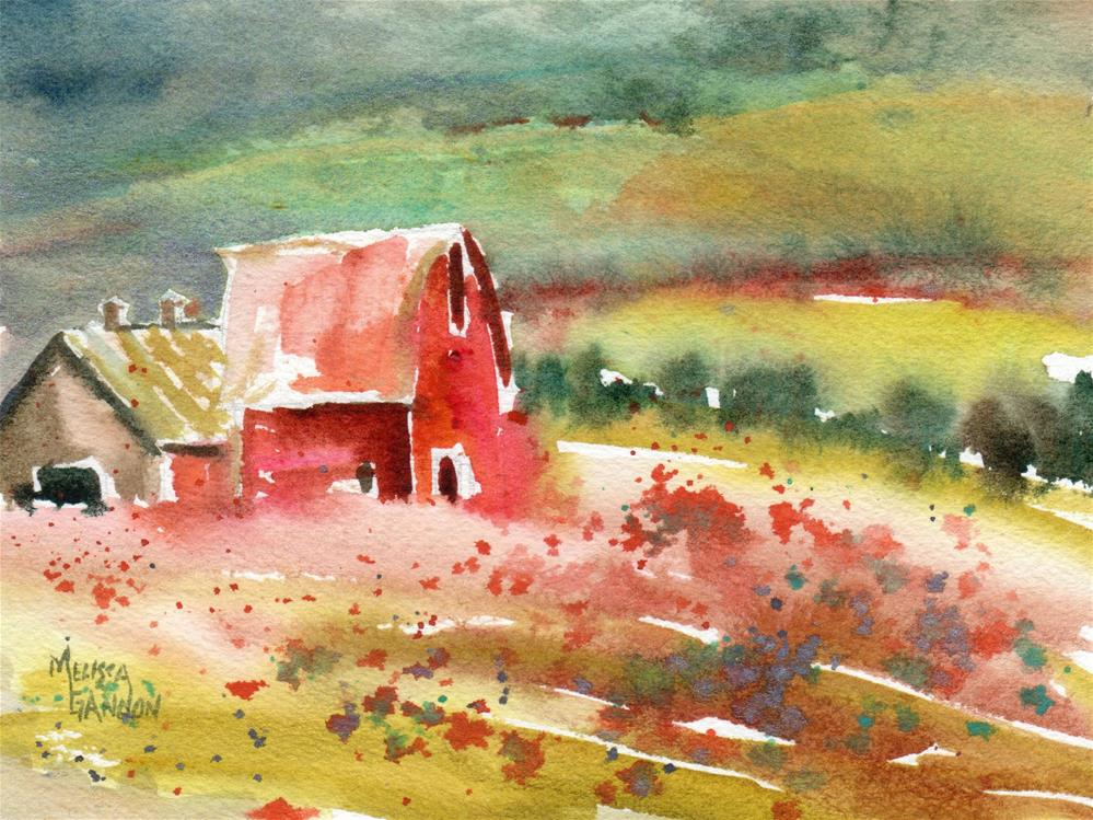 """Country Barn"" original fine art by Melissa Gannon"