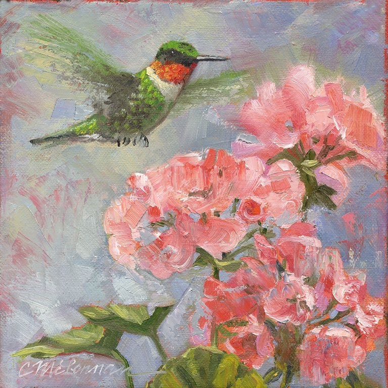 """Fly-By"" original fine art by Connie McLennan"