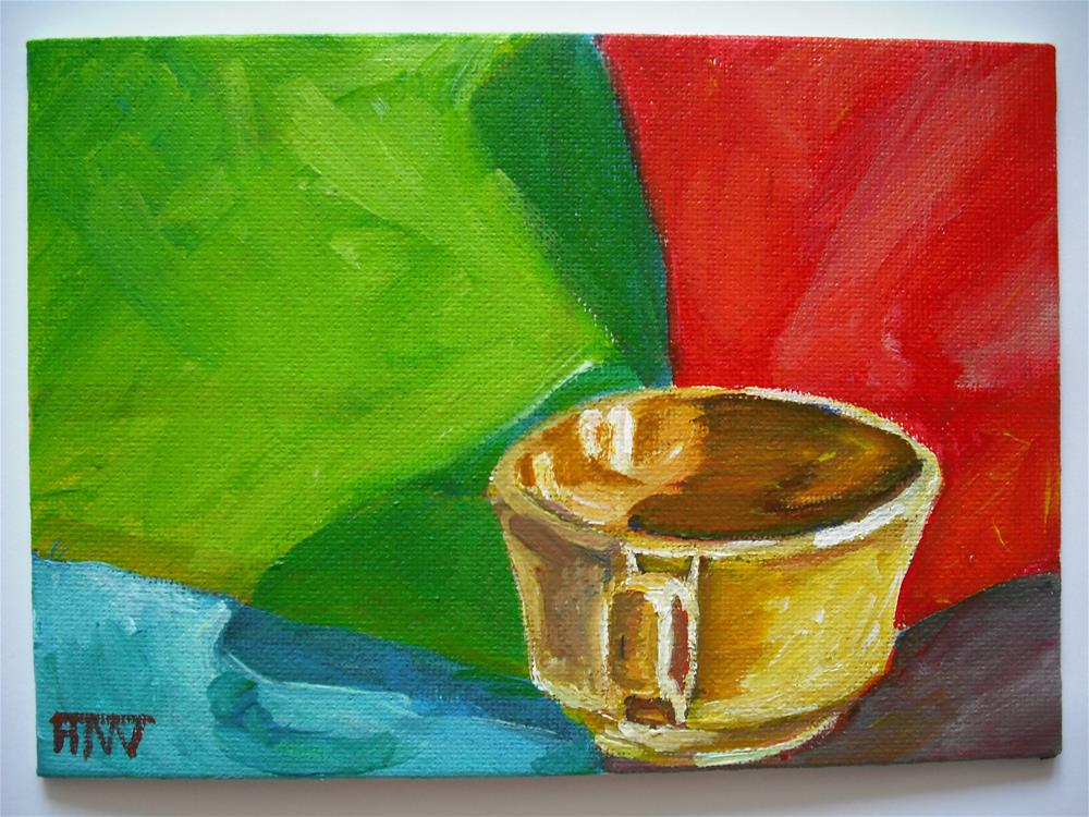 """Yellow Cup - Expectant"" original fine art by Heather Whiting"