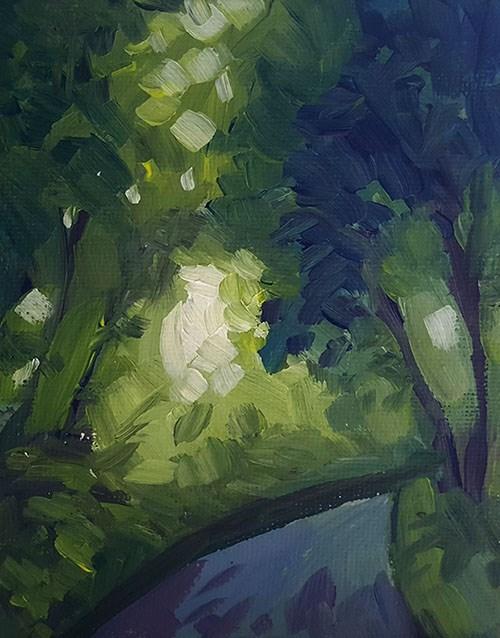 """A Forest Path"" original fine art by J M Needham"
