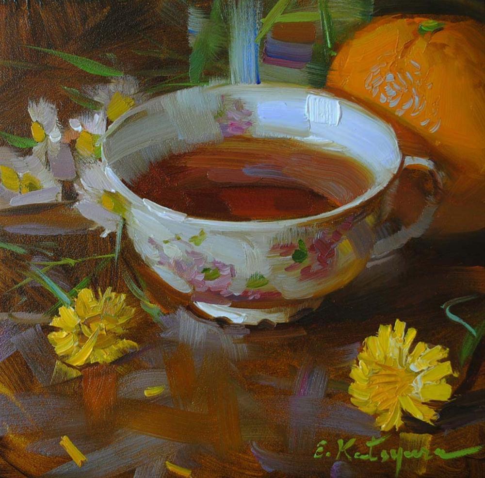 """Dandelion Tea"" original fine art by Elena Katsyura"
