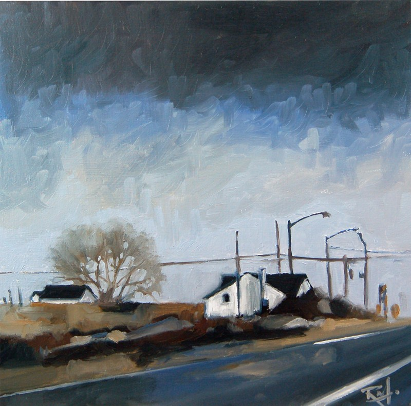 """No 434 Highway 5 and Nineth Line"" original fine art by Robin J Mitchell"