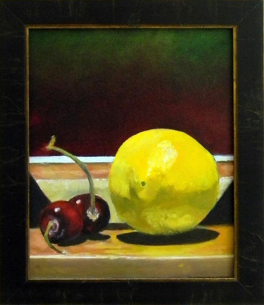 """""""2 Cherry Lemon"""" original fine art by De Selby"""
