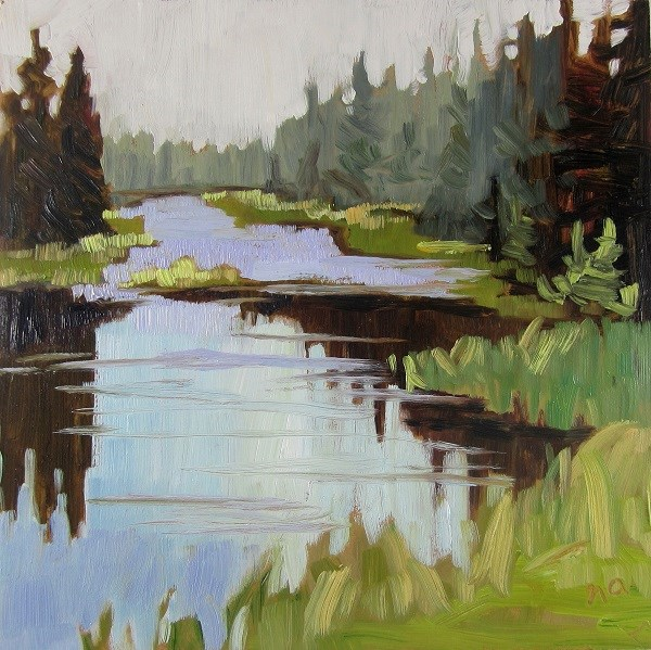 """Waskesiu River Revisited"" original fine art by Nicki Ault"