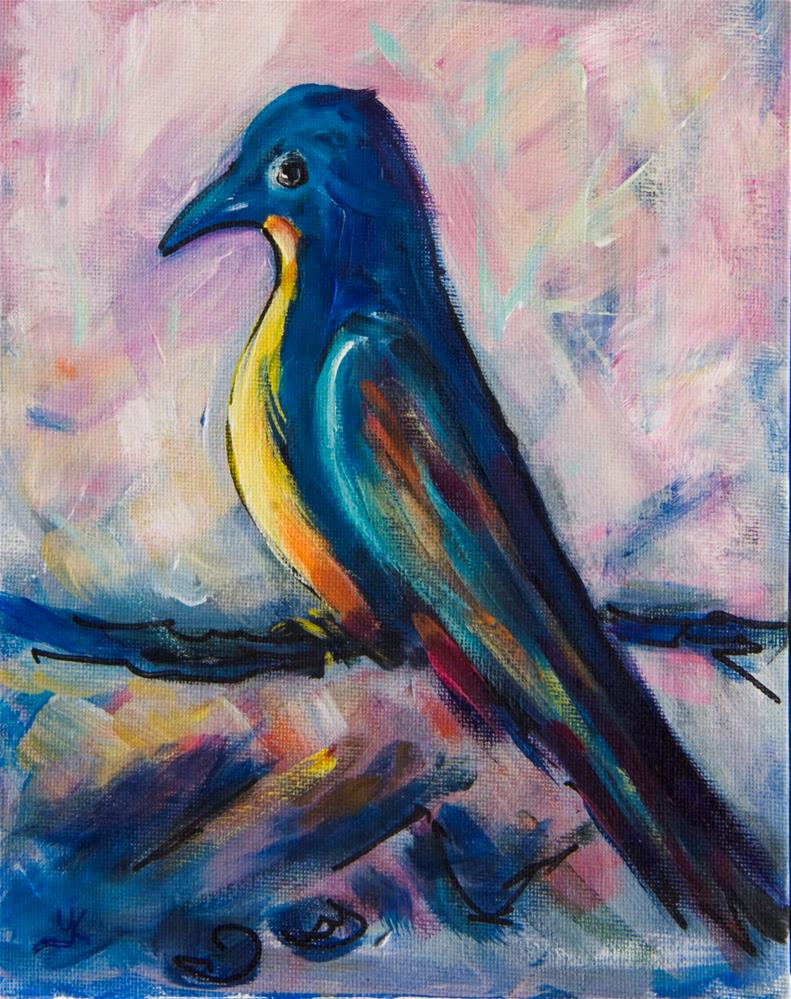 """Mocking Bird"" original fine art by Yulia Kazansky"