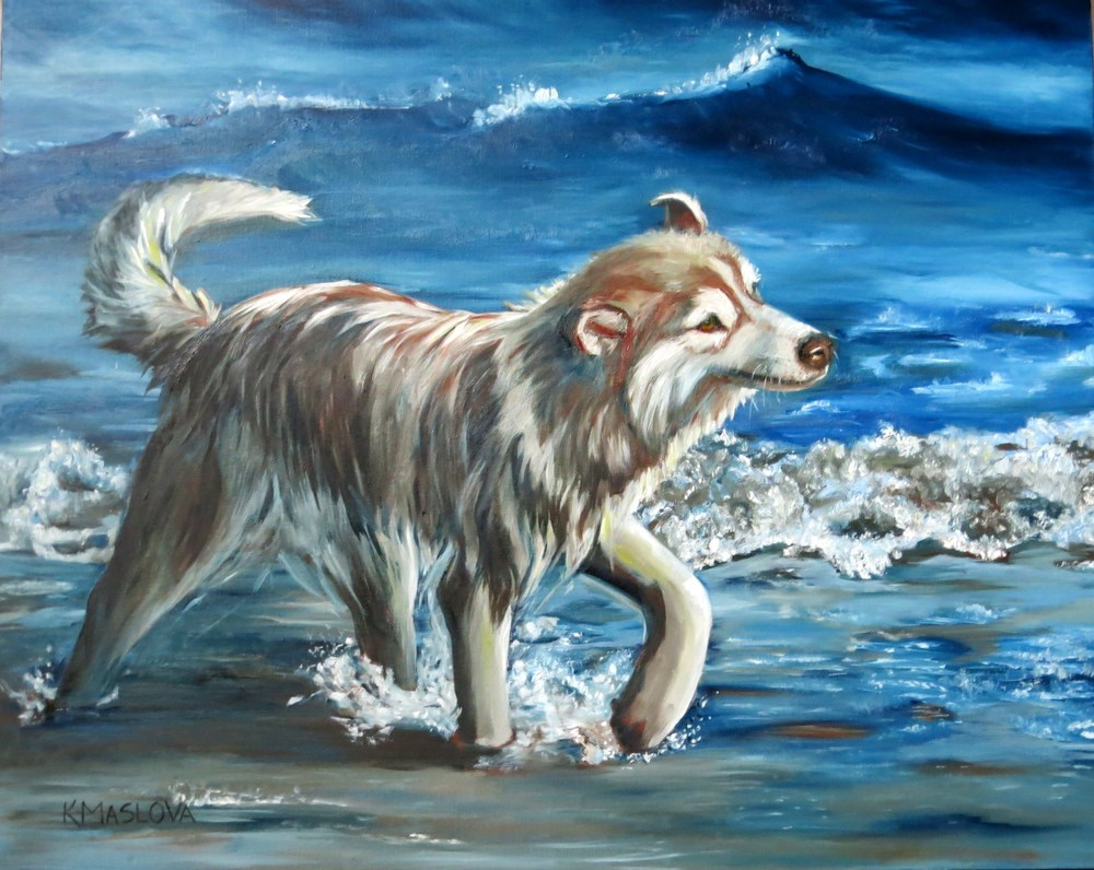 """Joy"" original fine art by Kulli Maslova"