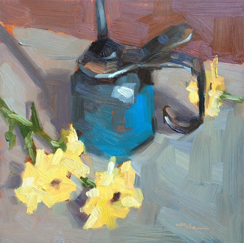 """Antique Oil Can"" original fine art by Katia Kyte"