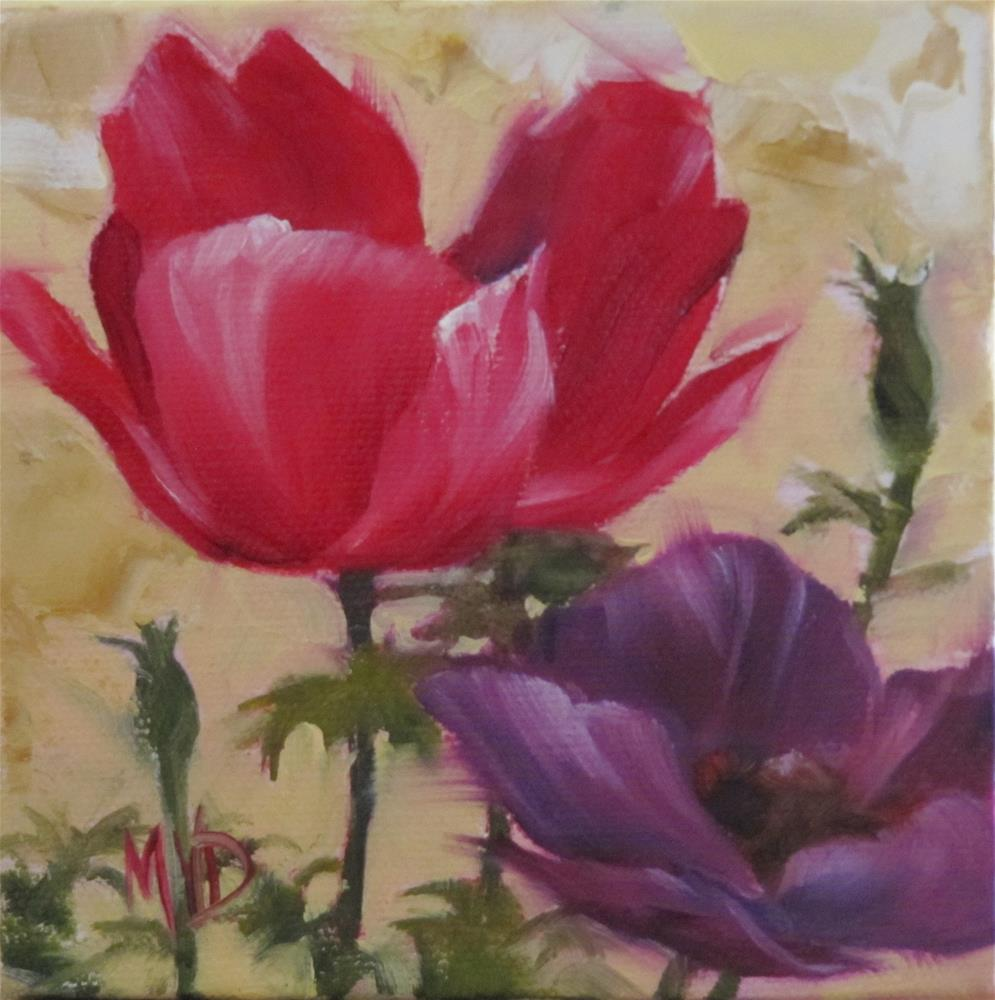 """Anemone II"" original fine art by Mary Van Deman"