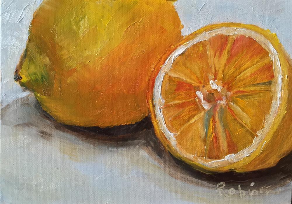 """Lemon Extract"" original fine art by Renee Robison"