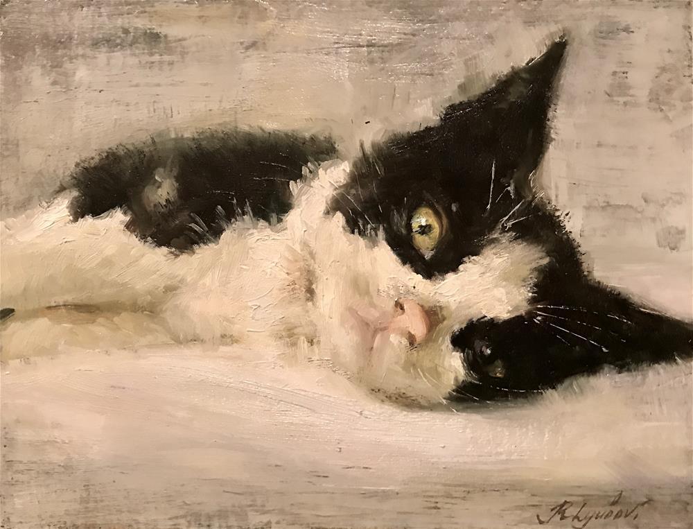 """Black ears"" original fine art by Regina Lyubovnaya"