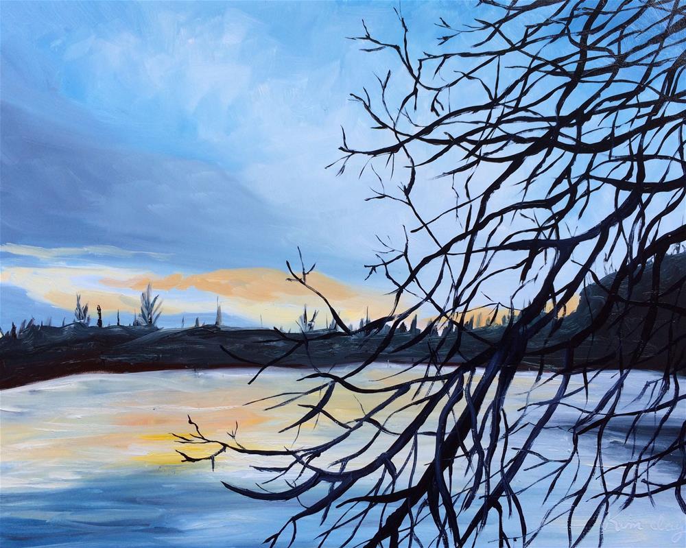 """""""Magnolia Lake"""" original fine art by Kim Clay"""