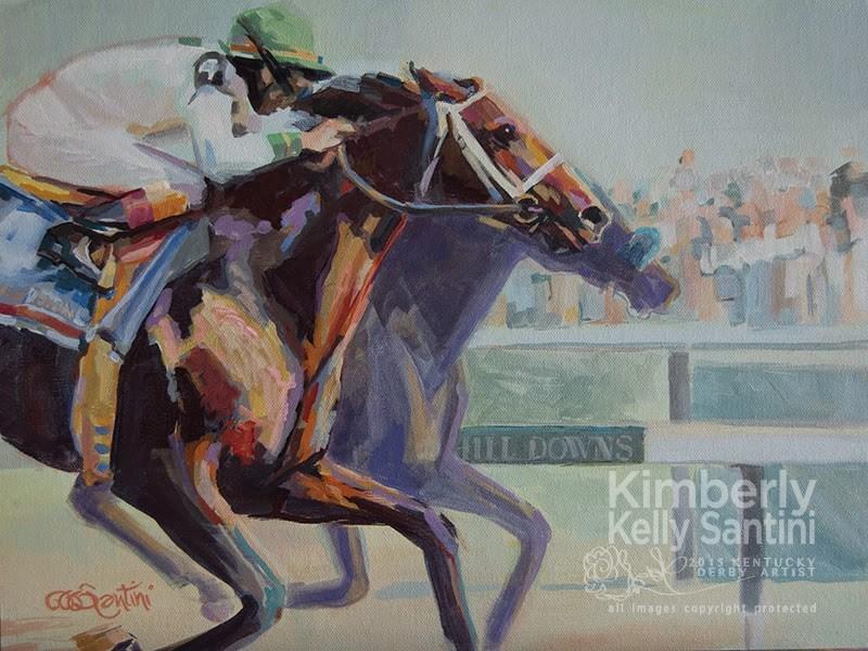 """Grindstone"" original fine art by Kimberly Santini"