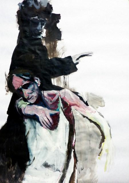 """""""Tanzszene auf der Bühne /  dance scene on stage"""" original fine art by Mila Plaickner"""
