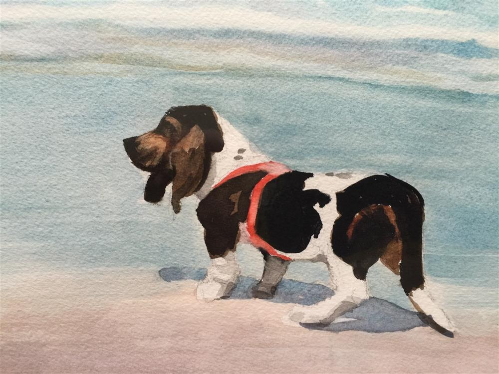 """Beach Bassett"" original fine art by Jini James"