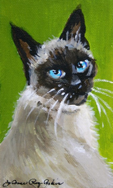 """Siamese If You Please"" original fine art by JoAnne Perez Robinson"