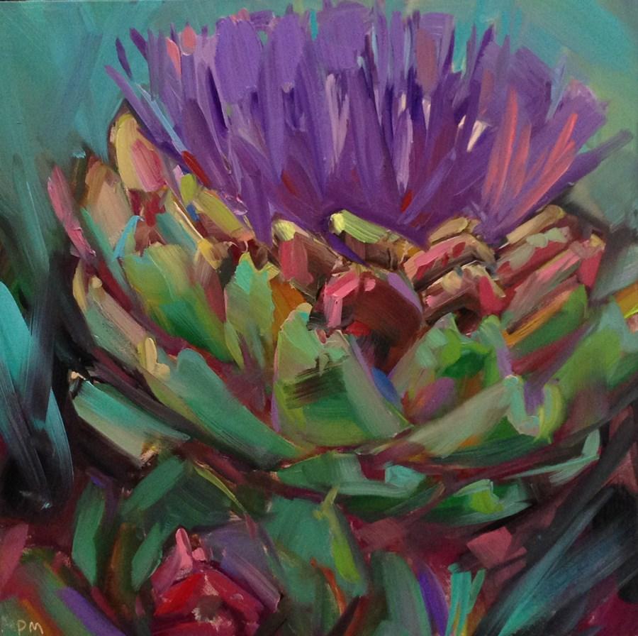 """A is For Artichoke"" original fine art by Patti McNutt"