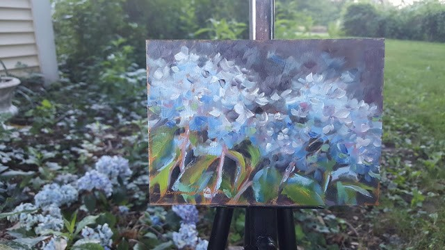 """Blue Hydrangea"" original fine art by Tammie Dickerson"