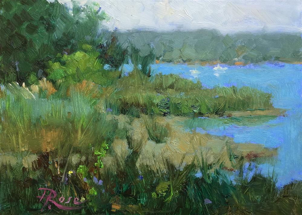 """Cold Spring Harbor north"" original fine art by Howard Rose"