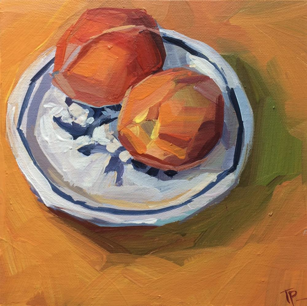 """Colorado Peaches"" original fine art by Teddi Parker"