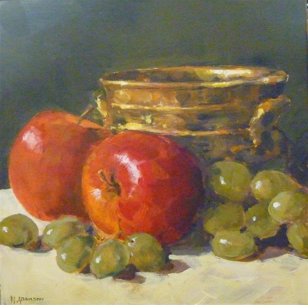 """Crisp & Juicy"" original fine art by Helene Adamson"