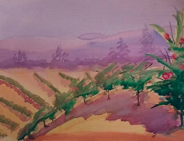 """Ellijay Apple Orchards"" original fine art by Maria Peagler"
