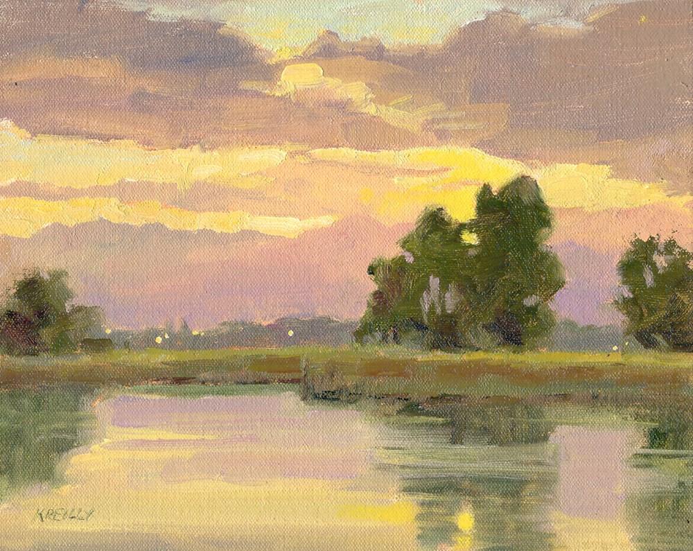 """""""September Sunset"""" original fine art by Kath Reilly"""