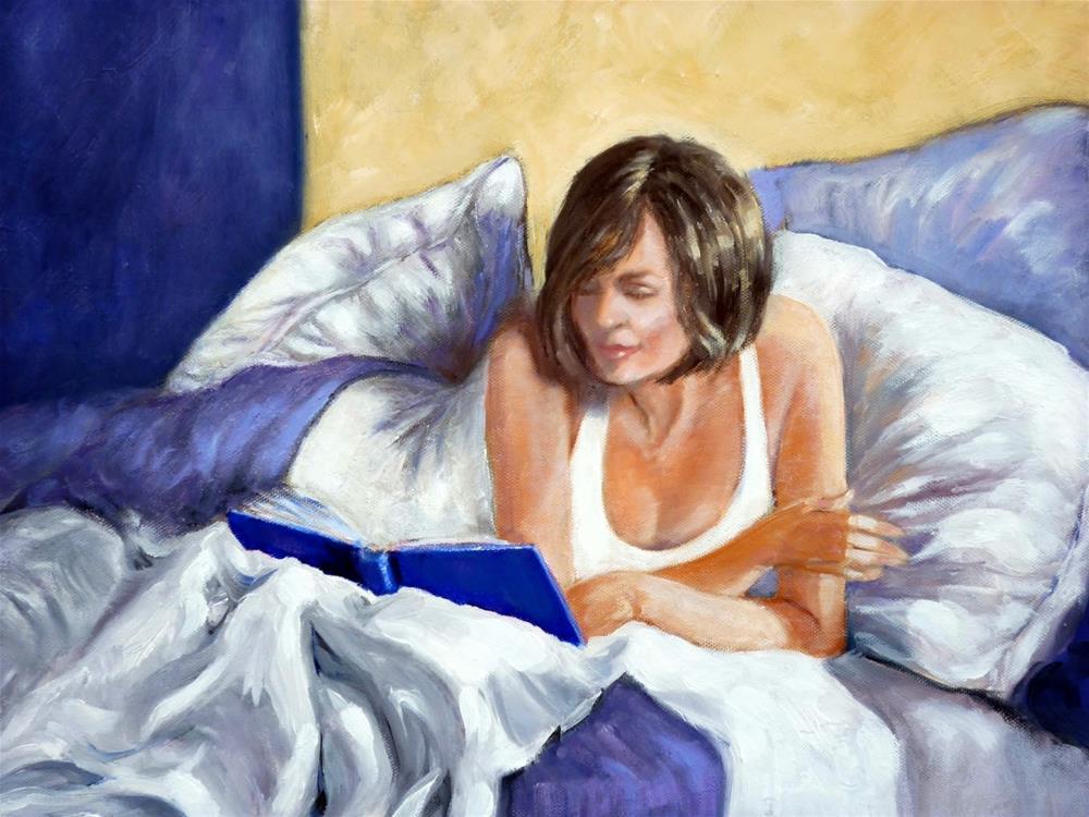 """Morning Read"" original fine art by Helene Adamson"