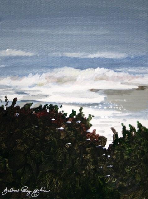 """""""Trees and Sea"""" original fine art by JoAnne Perez Robinson"""