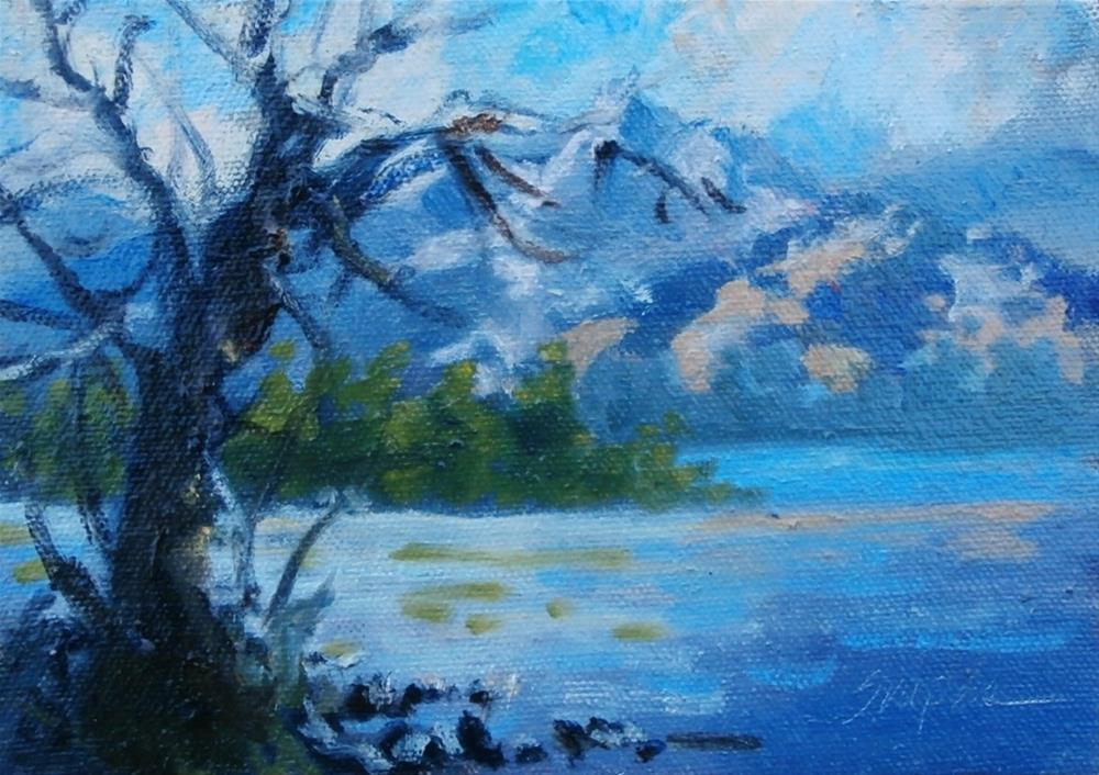 """Grand Tetons, Jackson Hole"" original fine art by Connie Snipes"