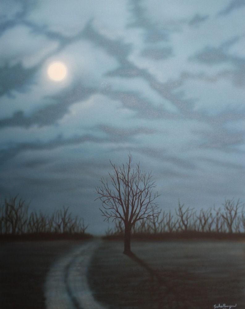 """""""Midnight Road"""" original fine art by Fred Schollmeyer"""