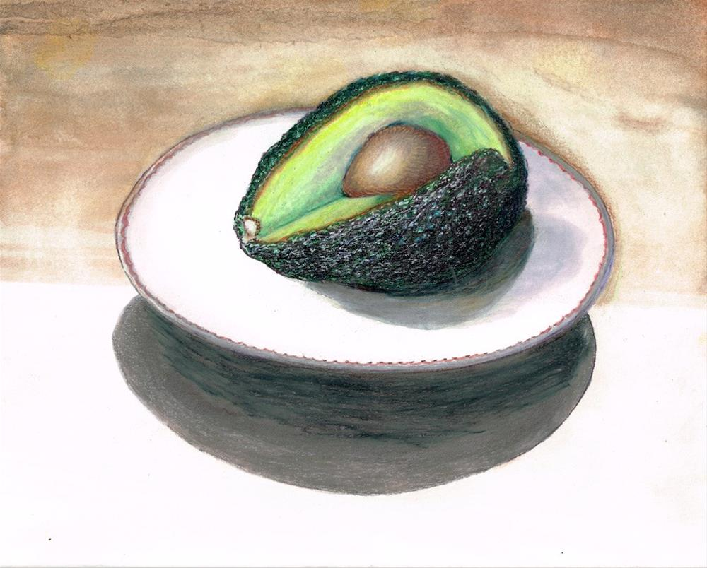 """Avocado 2"" original fine art by Karen Stitt"