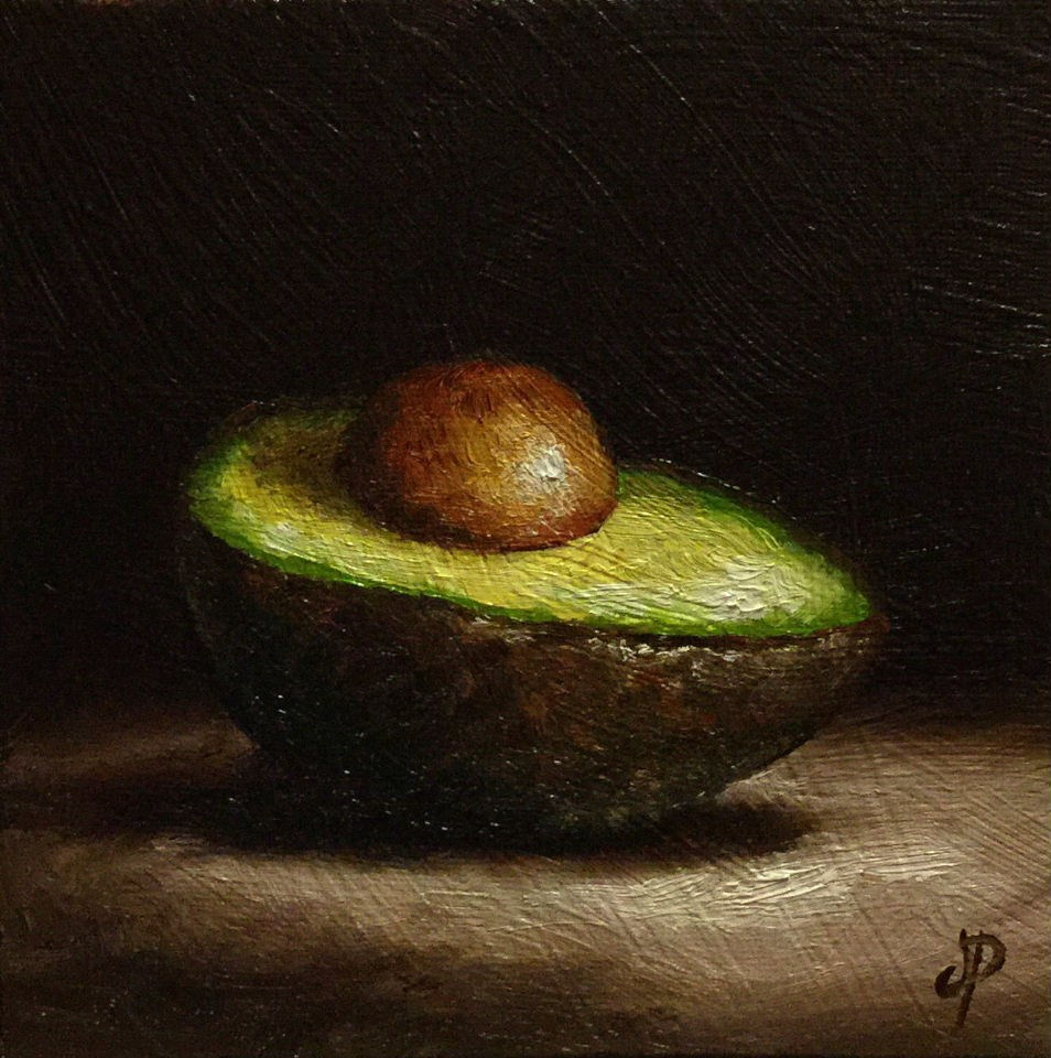 """avocado"" original fine art by Jane Palmer"
