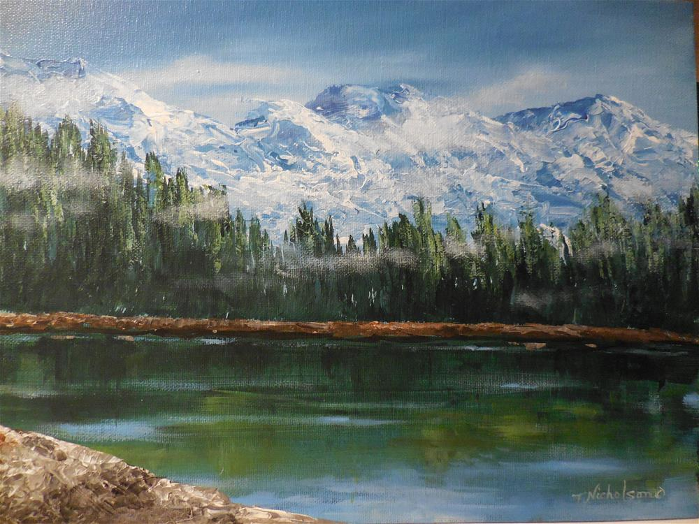 """Cold Mountain"" original fine art by Terri Nicholson"