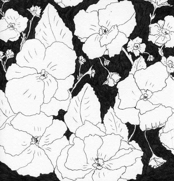 """""""Flowers 4"""" original fine art by Lou Belcher"""