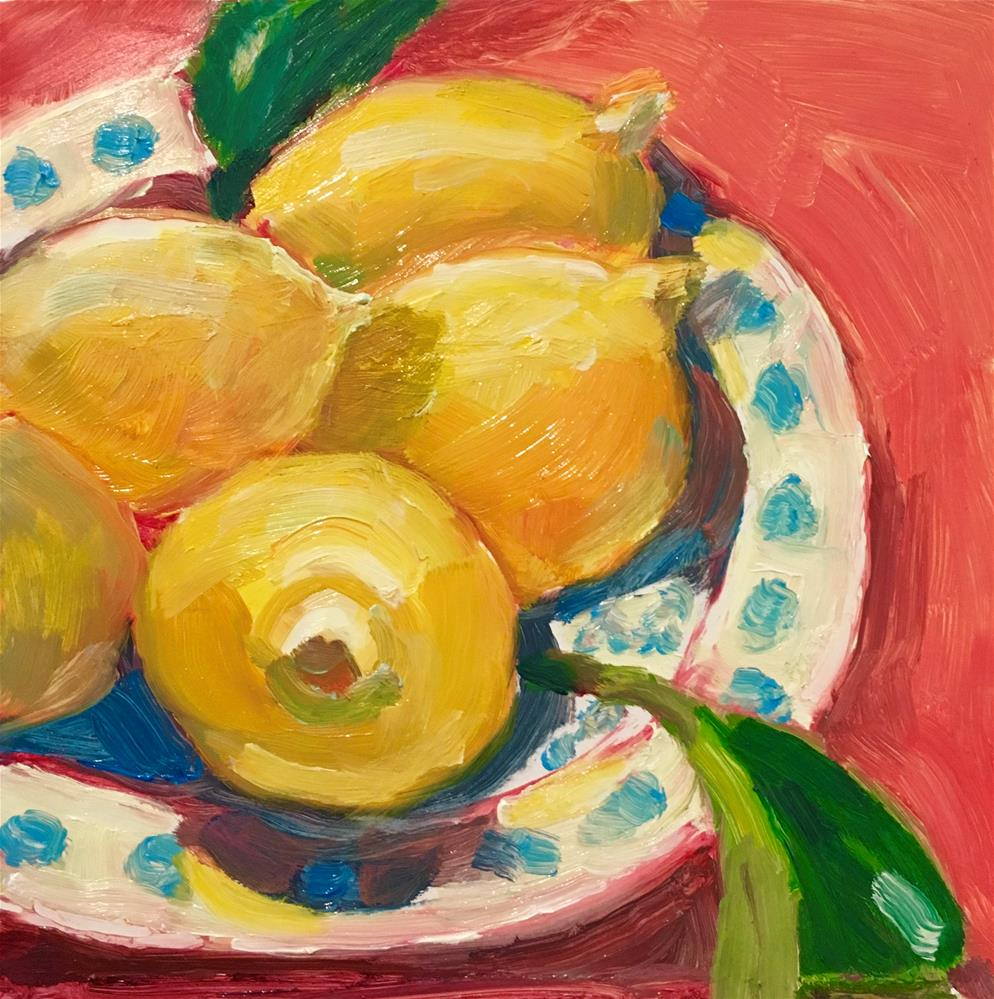"""Lemons in Bowl"" original fine art by Marcia Bergtholdt"