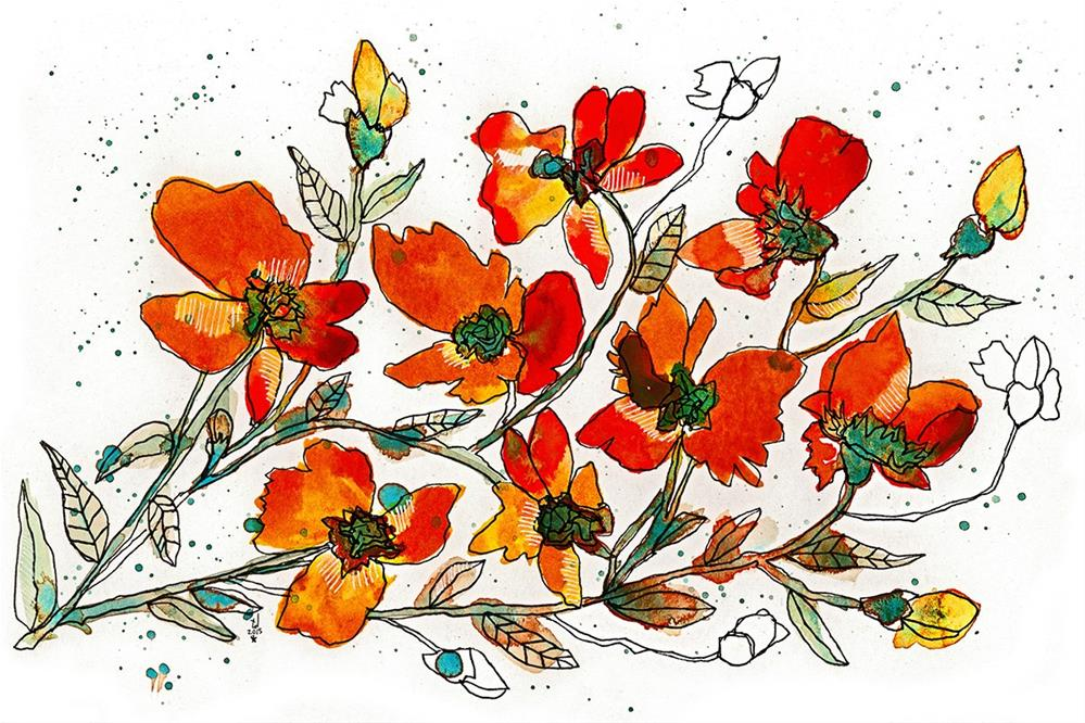 """In Love with Orange"" original fine art by Tonya Doughty"