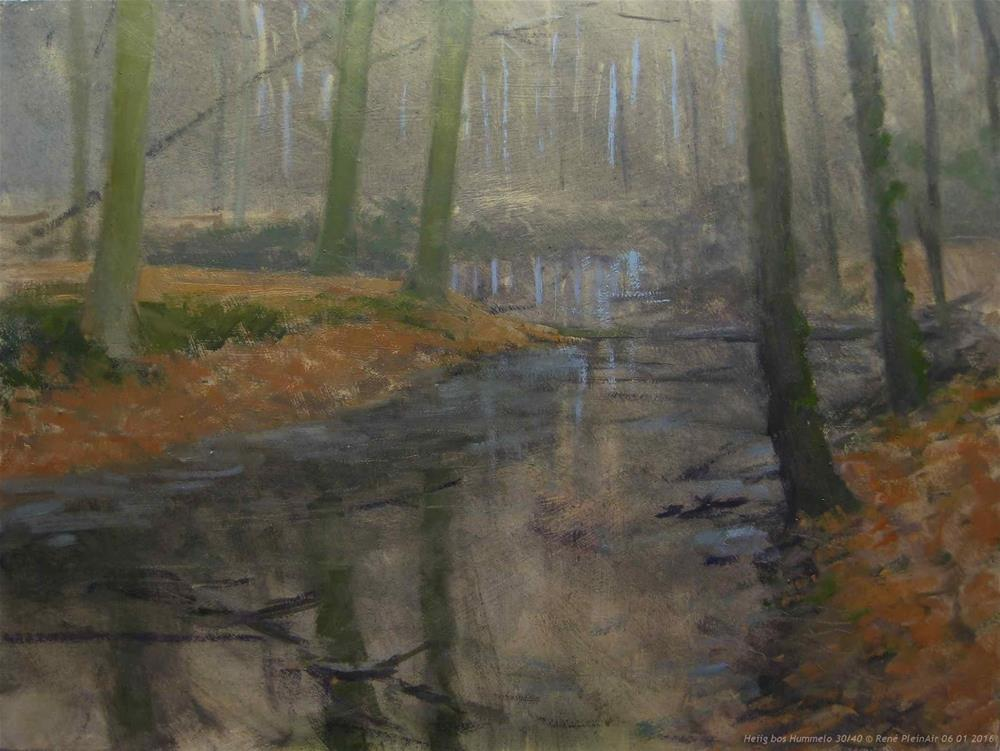 """Grey forrest. Hummelo, The Netherlands"" original fine art by René PleinAir"
