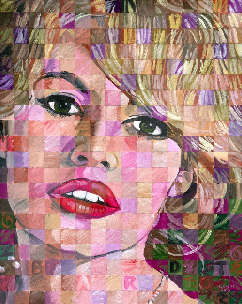 """Brigette Bardot"" original fine art by Randal Huiskens"