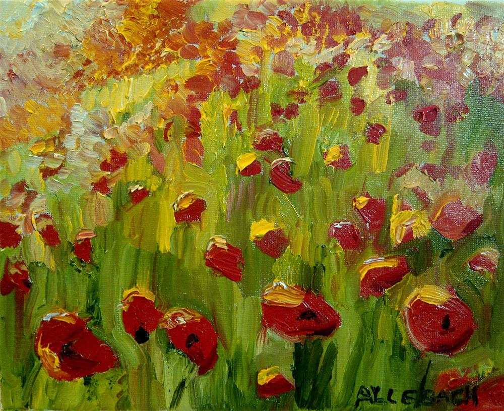 """Poppies in the sun"" original fine art by Jo Allebach"