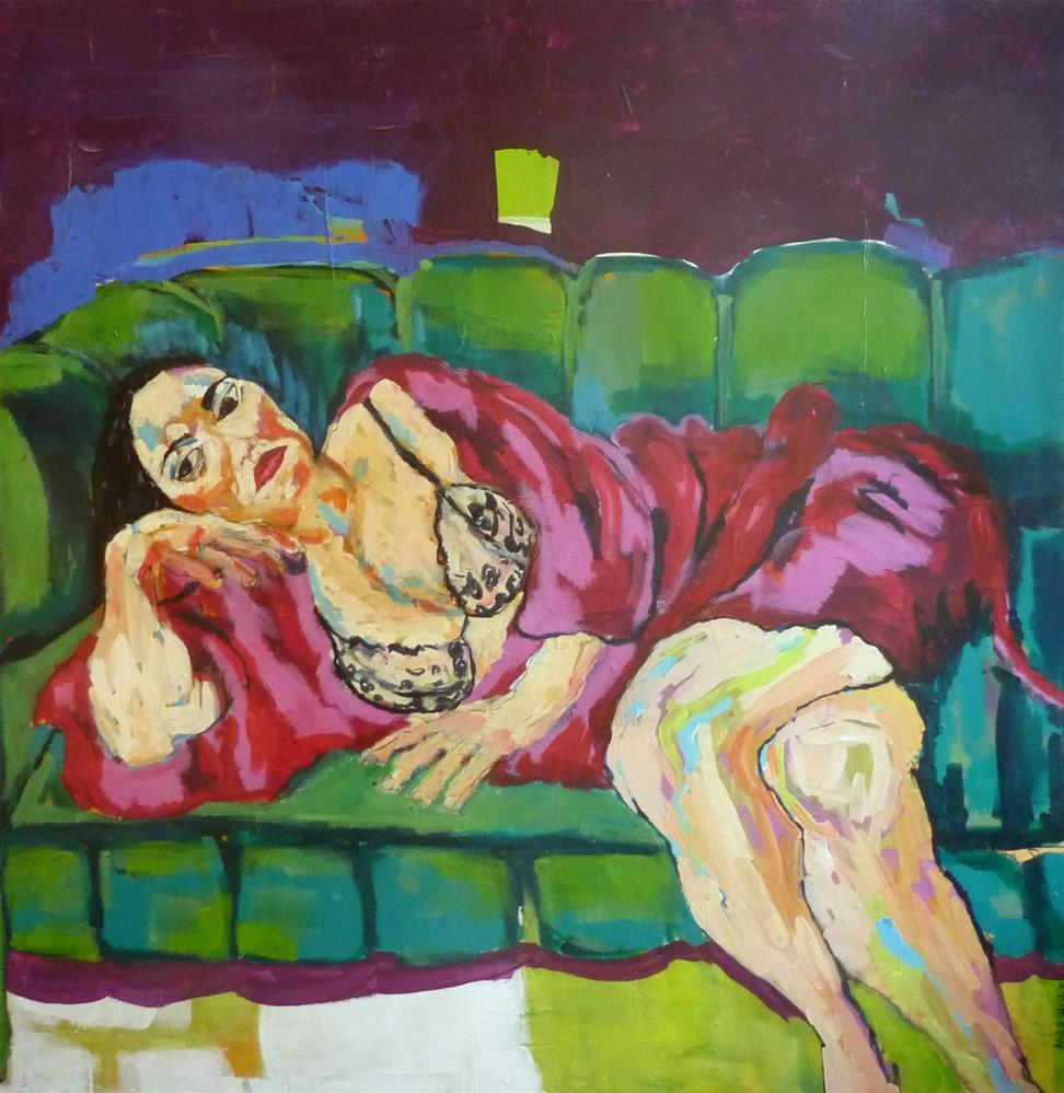 """""""liegende Schönheit / beauty lying"""" original fine art by Mila Plaickner"""