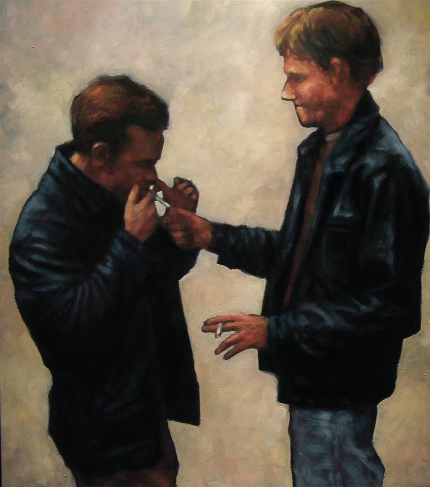 """John & Troy"" original fine art by Joe Fitzgerald"