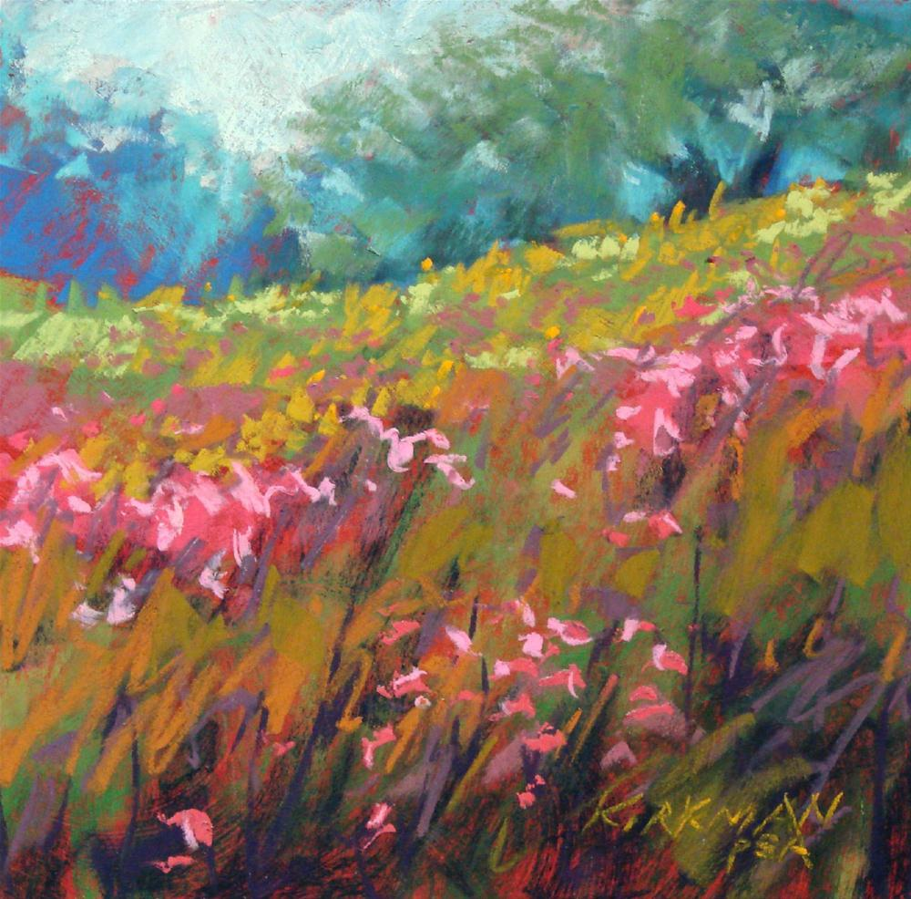 """Wildflower Field #32"" original fine art by Rita Kirkman"