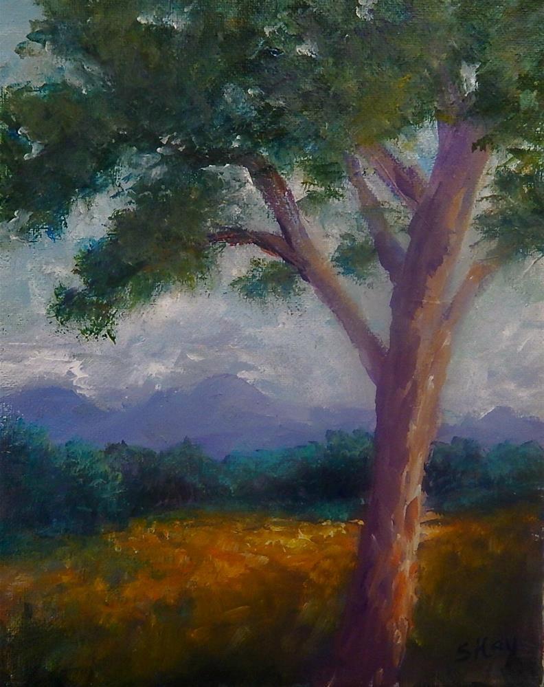 """Golden Meadow"" original fine art by Sharon Kay Baker"