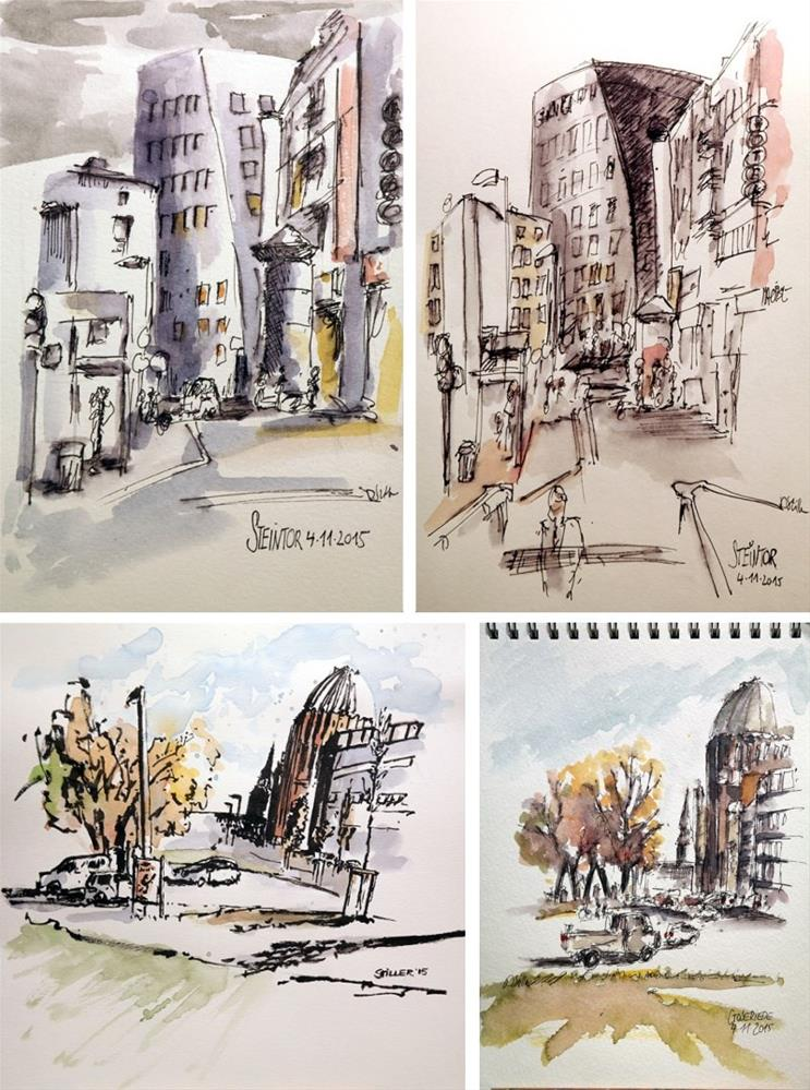 """1544 Sunday Sketches 12"" original fine art by Dietmar Stiller"