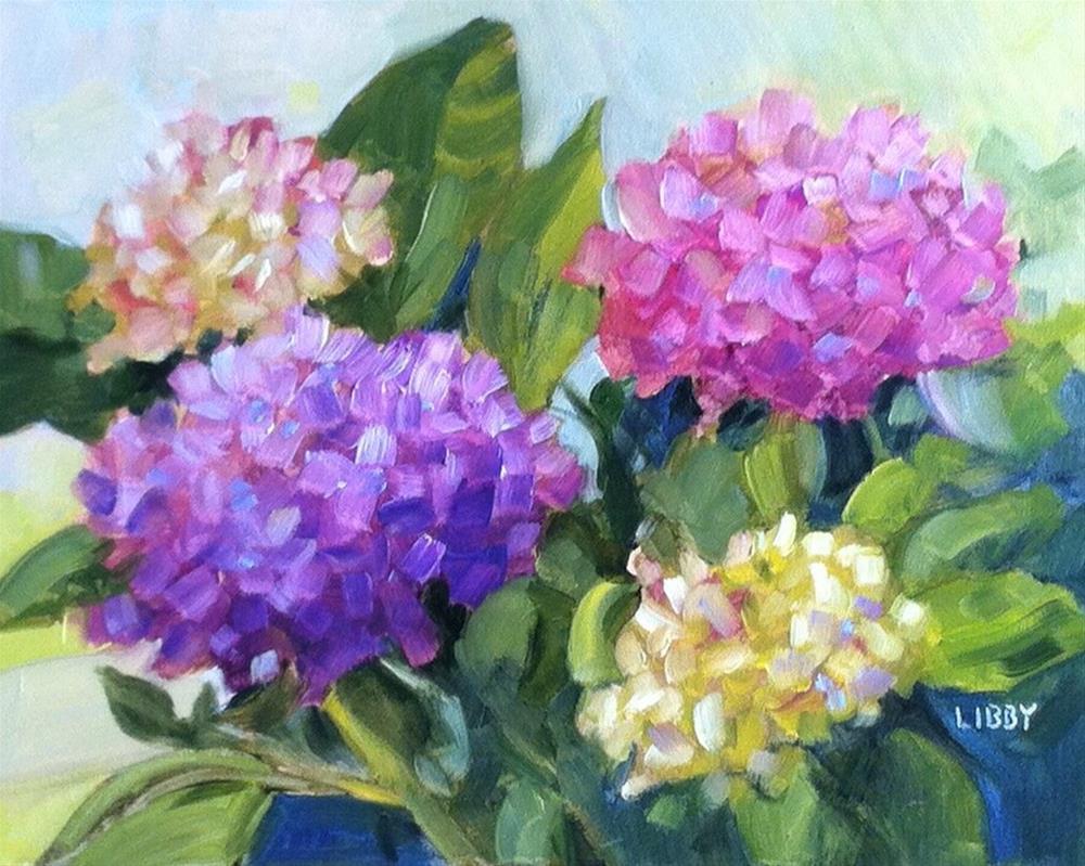 """Hydrangea 1840"" original fine art by Libby Anderson"