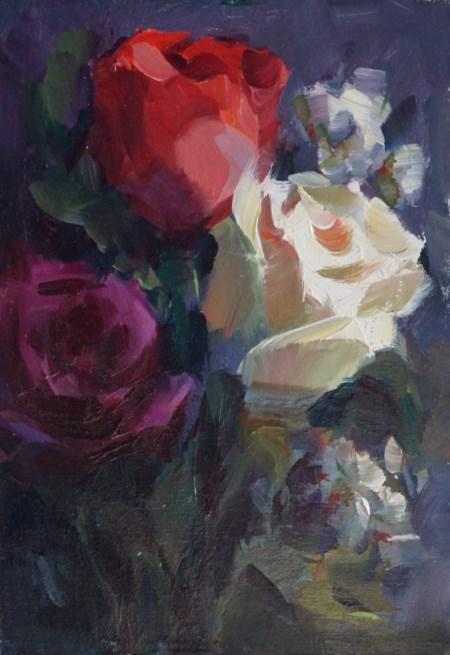 """Sunday Roses"" original fine art by Carol Myer"